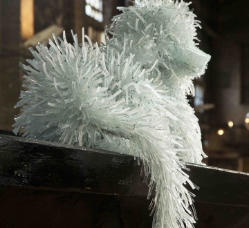 glass shard dog sculpture