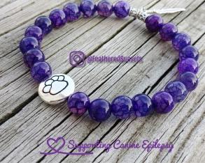 purple canine epilepsy bracelet