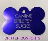 canine epilepsy sucks dog tag