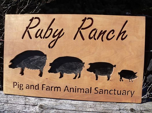 Ruby Ranch wood sign