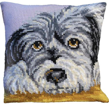 needlepoint puppy