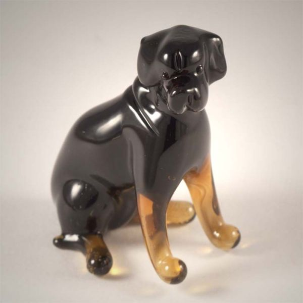 blown glass rottie